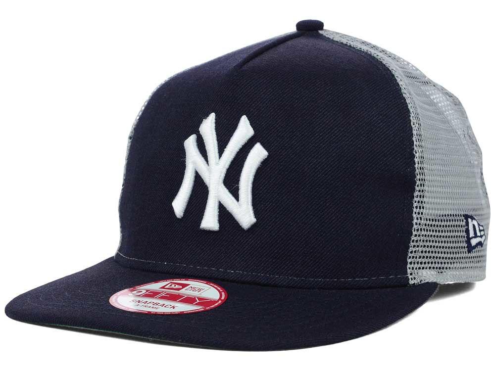 4777d76ff063bd ... aliexpress new york yankees new era mlb team basic trucker a frame  9fifty snapback cap 1b705