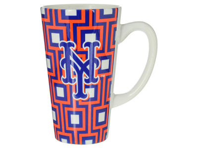 New York Mets Squares Latte Mug