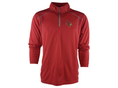 Louisville Cardinals NCAA Men's Poly Mesh 1/4 Zip Pullover Shirt