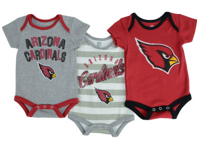 Arizona Cardinals NFL Infant Field Goal 3 pack Bodysuit Set
