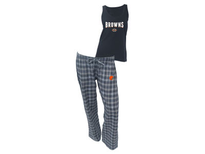 Cleveland Browns NFL Women's Candid Flannel Tank Sleep Set