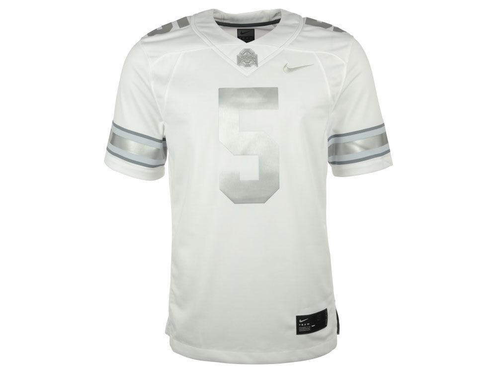 a115c05ea Ohio State Buckeyes Nike NCAA Men s Limited Platinum Football Jersey ...