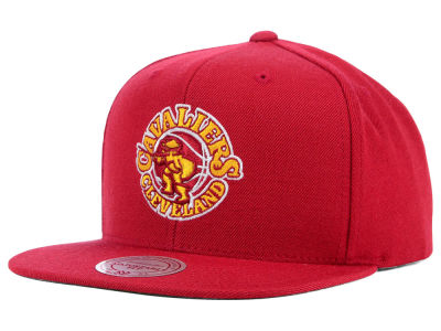 Cleveland Cavaliers Mitchell and Ness NBA Solid Snapback Cap