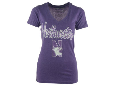 Northwestern Wildcats NCAA Womens Hugo Vneck T-Shirt 2014