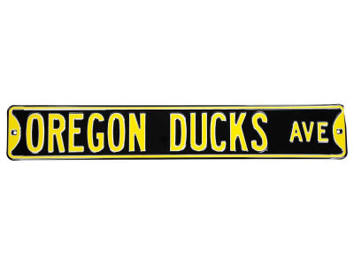 Oregon Ducks AVE Street Sign