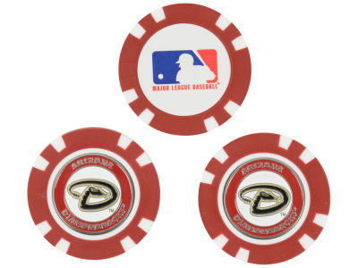 Arizona Diamondbacks Golf Poker Chip Markers 3 Pack