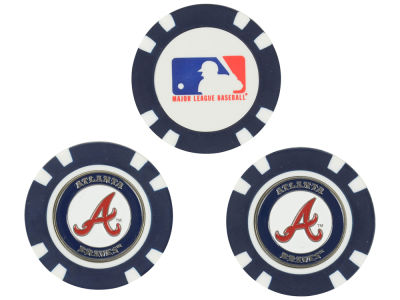 Atlanta Braves Golf Poker Chip Markers 3 Pack