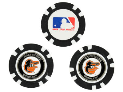 Baltimore Orioles Golf Poker Chip Markers 3 Pack