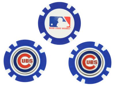 Chicago Cubs Golf Poker Chip Markers 3 Pack