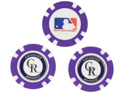 Colorado Rockies Golf Poker Chip Markers 3 Pack