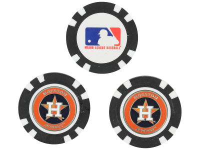 Houston Astros Golf Poker Chip Markers 3 Pack