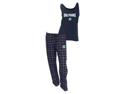 Miami Dolphins NFL Women's Candid Flannel Tank Sleep Set