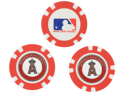 Los Angeles Angels Golf Poker Chip Markers 3 Pack