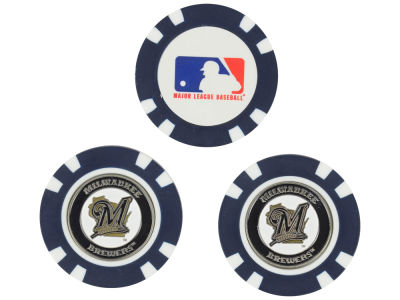 Milwaukee Brewers Golf Poker Chip Markers 3 Pack