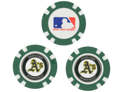 Oakland Athletics Golf Poker Chip Markers 3 Pack