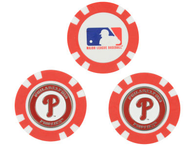Philadelphia Phillies Golf Poker Chip Markers 3 Pack