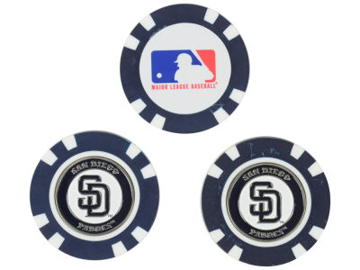San Diego Padres Golf Poker Chip Markers 3 Pack
