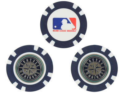 Seattle Mariners Golf Poker Chip Markers 3 Pack