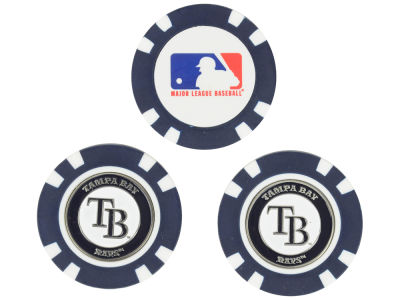 Tampa Bay Rays Golf Poker Chip Markers 3 Pack