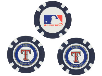 Texas Rangers Golf Poker Chip Markers 3 Pack