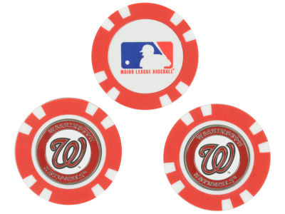 Washington Nationals Golf Poker Chip Markers 3 Pack