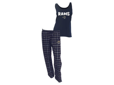 Los Angeles Rams NFL Women's Candid Flannel Tank Sleep Set