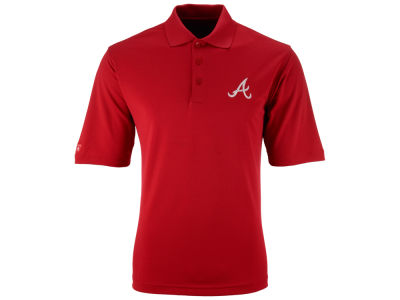 Atlanta Braves MLB Men's Pique Extra Lite Polo Shirt