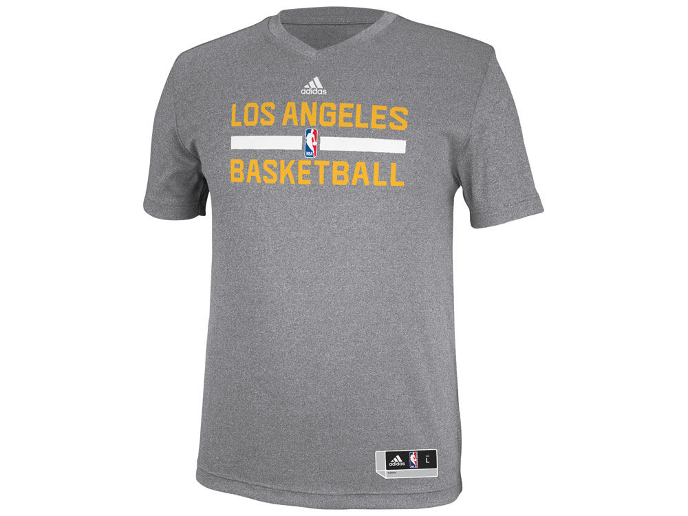 67b85316e7f ... Los Angeles Lakers adidas NBA Mens Practice Graphic T-Shirt ...