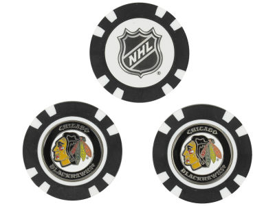 Chicago Blackhawks Golf Poker Chip Markers 3 Pack