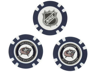 Columbus Blue Jackets Golf Poker Chip Markers 3 Pack