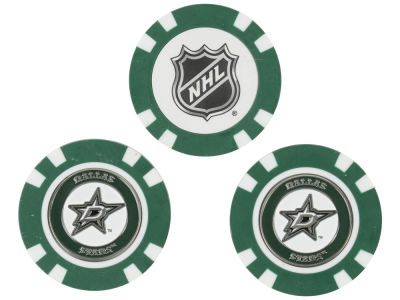 Dallas Stars Golf Poker Chip Markers 3 Pack