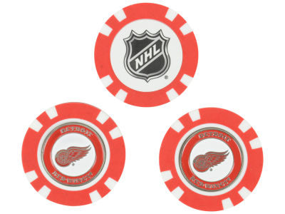 Detroit Red Wings Golf Poker Chip Markers 3 Pack
