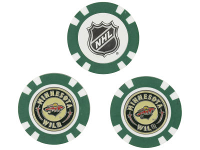 Minnesota Wild Golf Poker Chip Markers 3 Pack