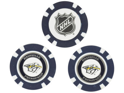Nashville Predators Golf Poker Chip Markers 3 Pack