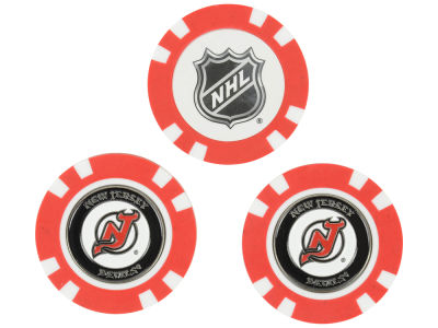 New Jersey Devils Golf Poker Chip Markers 3 Pack
