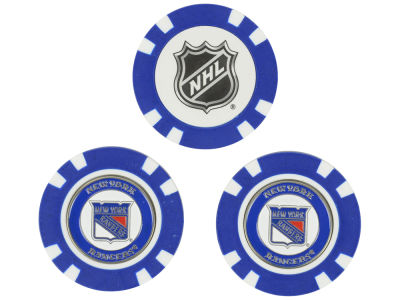 New York Rangers Golf Poker Chip Markers 3 Pack
