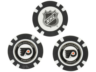 Philadelphia Flyers Golf Poker Chip Markers 3 Pack