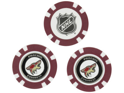 Phoenix Coyotes Golf Poker Chip Markers 3 Pack