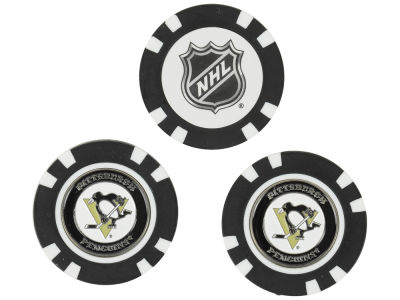 Pittsburgh Penguins Golf Poker Chip Markers 3 Pack