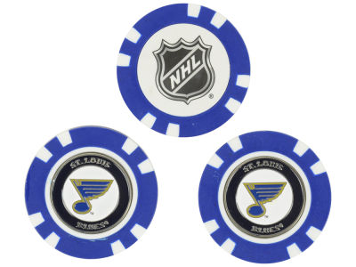St. Louis Blues Golf Poker Chip Markers 3 Pack