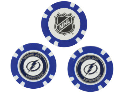 Tampa Bay Lightning Golf Poker Chip Markers 3 Pack