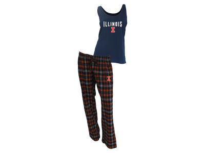 Illinois Fighting Illini NCAA Women's Candid Flannel Tank Sleep Set