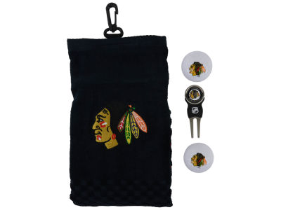 Chicago Blackhawks Golf Towel Gift Set