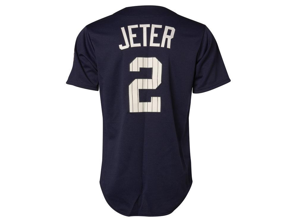 efbe10a5 New York Yankees Derek Jeter Majestic MLB Men's Commemorative Replica Jersey