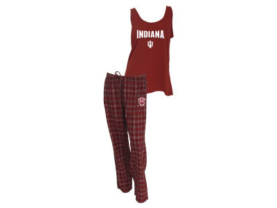 Indiana Hoosiers NCAA Women's Candid Flannel Tank Sleep Set