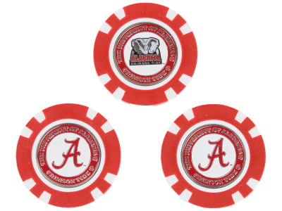 Alabama Crimson Tide Golf Poker Chip Markers 3 Pack