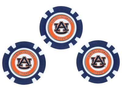 Auburn Tigers Golf Poker Chip Markers 3 Pack