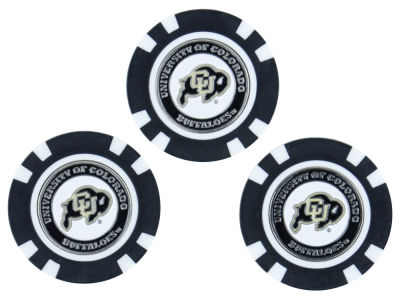 Colorado Buffaloes Golf Poker Chip Markers 3 Pack
