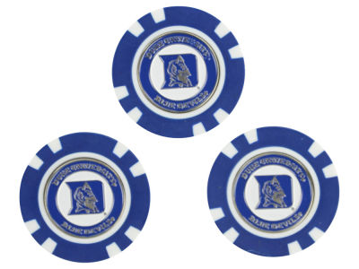 Duke Blue Devils Golf Poker Chip Markers 3 Pack
