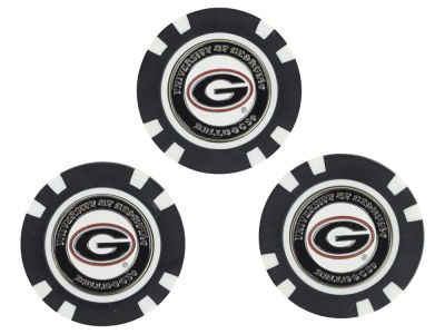Georgia Bulldogs Golf Poker Chip Markers 3 Pack